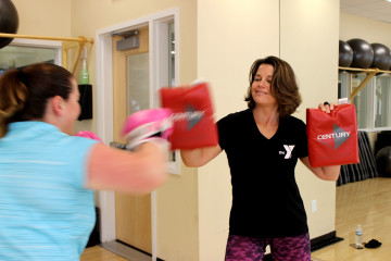 Get a great cardio workout while boxing with your trainer!