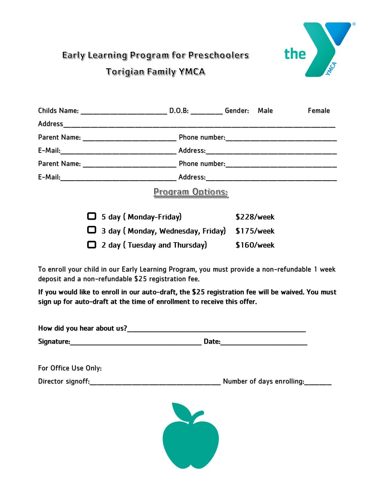 Torigian Child Care Parent Portal | YMCA of Metro North